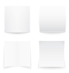 Paper banners on white background soft shadows vector image vector image