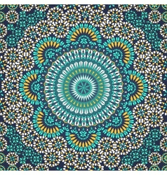 Seamless pattern in mosaic ethnic style vector