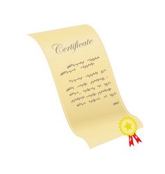certificate with a sticker vector image vector image