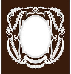 empty pirate frame vector image vector image