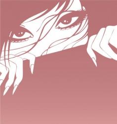 girl banner vector image