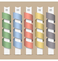 Modern numbered colored ribbons banners vector image vector image