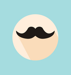 mustache hipster symbol flat style with long vector image vector image