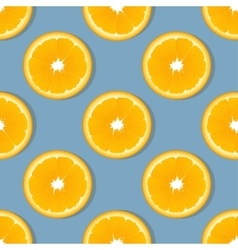 Orange slice fruit seamless pattern Citrus vector image vector image