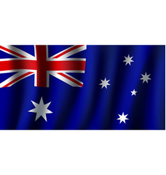 3d flag of australia national symbol vector image