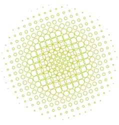Abstract halftone circle vector image
