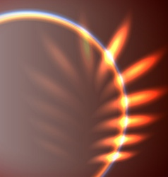 Abstract leaf shaped flare vector image