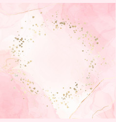abstract pink liquid watercolor background with vector image