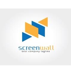 Abstract screen logo icon concept Logotype vector