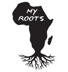 Africa map my roots black history design vector