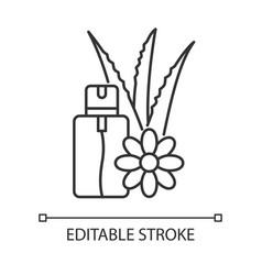 Aloe vera emergency spray pixel perfect linear vector