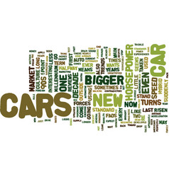 Auto trends text background word cloud concept vector