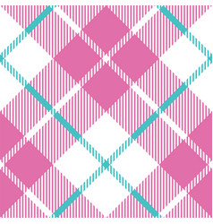 Baby blue pink pastel color plaid seamless vector
