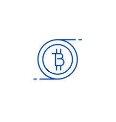 bitcoins technology line icon concept bitcoins vector image