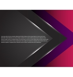 Black and pink corporate tech striped graphic vector image