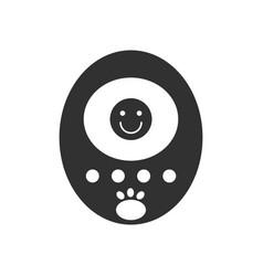 Black icon on white background tamagotchi pets vector