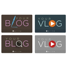 blog vlog vector image