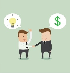 Business negotiation vector image