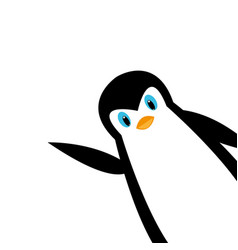 cartoon polar penguin vector image