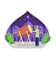 celebrating eid al-fitr concept vector image