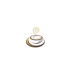 Coffee cup hot drink abstract logo vector