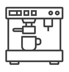 Coffee espresso machine minimalistic flat line vector