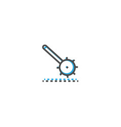 cogwheel icon design stationery icon design vector image