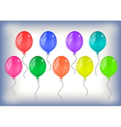 Colorful balloons collection vector image