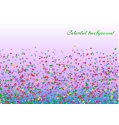 colorful confetti decoration vector image