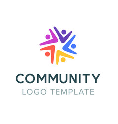 community logo teamwork social logo partnership vector image