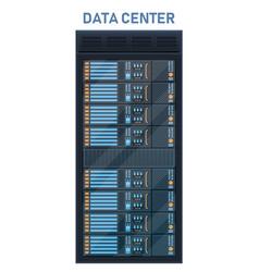 creative of server rack room vector image