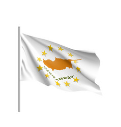 cyprus national flag with a circle of eu vector image