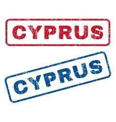Cyprus Rubber Stamps vector