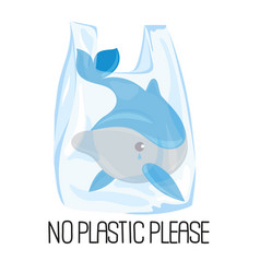 dolphin plastic earth ecological environmental vector image