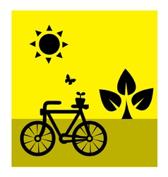 Ecology cycling vector image