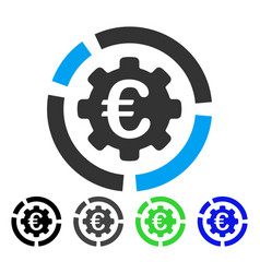Euro diagram configuration flat icon vector
