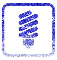 Fluorescent bulb framed textured icon vector