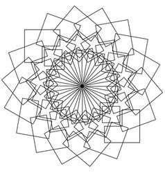 geometric flower - circular pattern lotus flower vector image