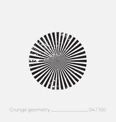 Geometric simple shape in grunge retro style vector