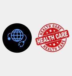 global medical service icon and distress vector image