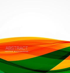 Green orange wave background design vector