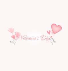 happy valentine daylovely cartoon with vector image