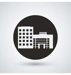 Hospital building clinic design vector