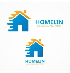 House in motion logo or icon vector