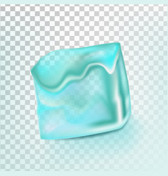 ice cube isolated transpatrent clean cold vector image