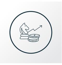 investment strategy icon line symbol premium vector image