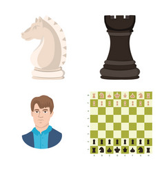 isolated object of chess and game symbol vector image