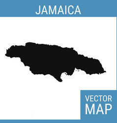 Jamaica map with title vector