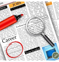 Job Search in Newspaper vector