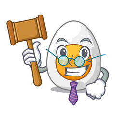 Judge freshly boiled egg isolated on mascot vector